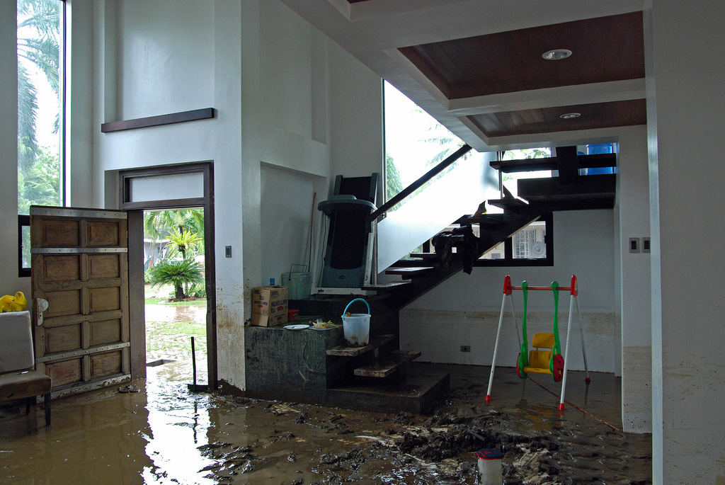 how to clean up sewage leak under house